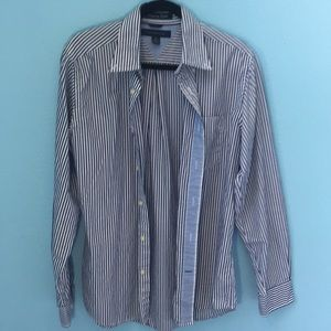 Tommy Hilfiger Tops - Oversized striped, Tommy Hilfiger button down.